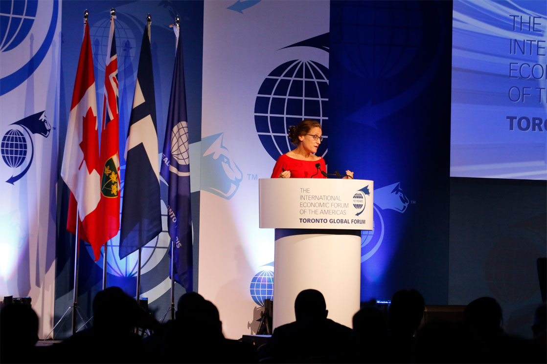 Chrystia Freeland, Minister of International Trade, Canada - Toronto Global Forum 2016
