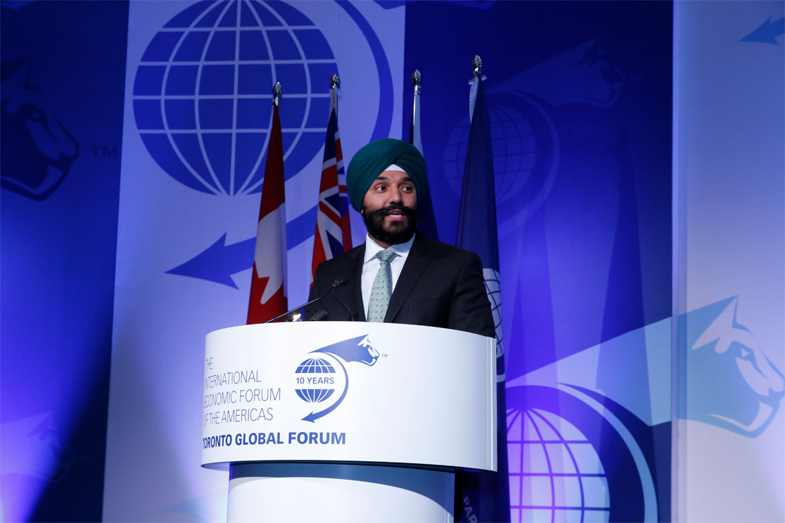 Navdeep Bains, Minister of Innovation, Science and Economic Development, Canada - Toronto Global Forum 2016