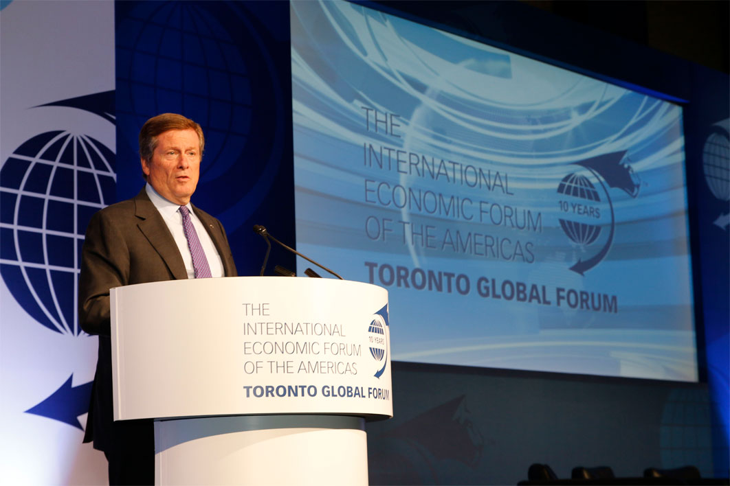 John Tory, Mayor of Toronto - Toronto Global Forum 2016