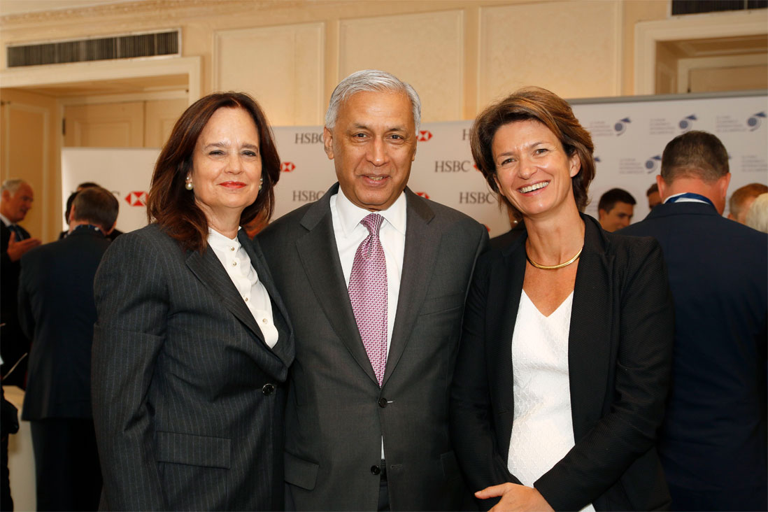 Hélène Desmarais, President of the Consultative and Strategic Orientation Board, Conference of Montreal, Shaukat Aziz, Former Prime Minister of Pakistan and Isabelle Kocher, CEO, ENGIE - Toronto Global Forum 2016