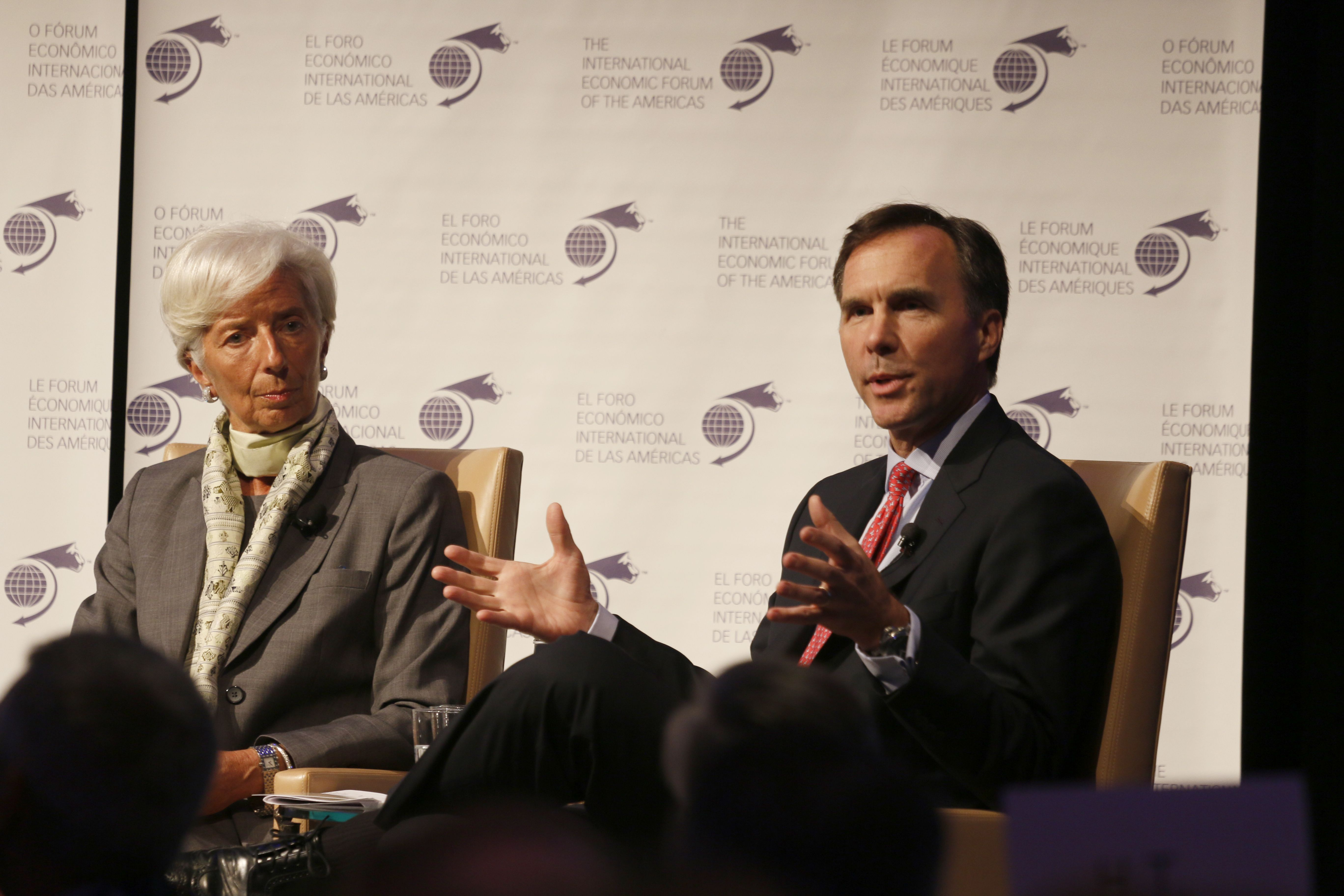 Christine Lagarde, Managing Director, International Monetary Fund (IMF) and William Francis Morneau, Minister of Finance, Canada - Toronto Global Forum 2016