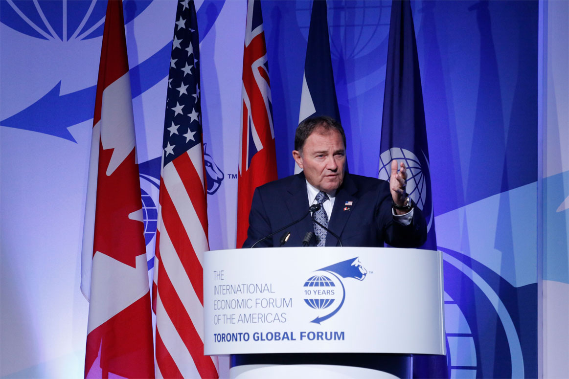 Gary R. Herbert, Governor of Utah - Toronto Global Forum 2016