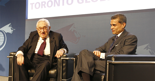 Henry Kissinger, 56th Secretary of State, United States of America and Fareed Zakaria, Host, CNN's Fareed Zakaria GPS - Toronto Global Forum 2014
