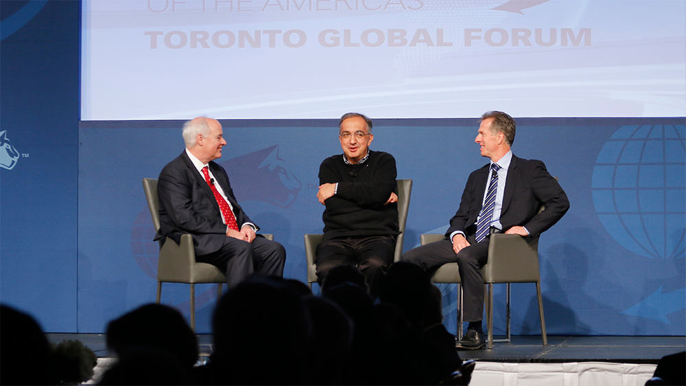 Sergio Marchionne, Chief Executive Officer, Fiat Chrysler Automobiles N.V.; and Chairman, Ferrari S.p.A. - Toronto Global Forum 2015