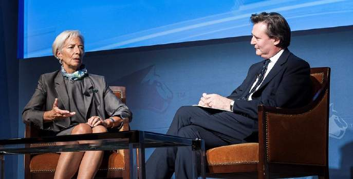 Christine Lagarde, Managing Director, International Monetary Fund and John Micklethwait, Editor-in-Chief, Bloomberg News - Conference of Montreal 2014