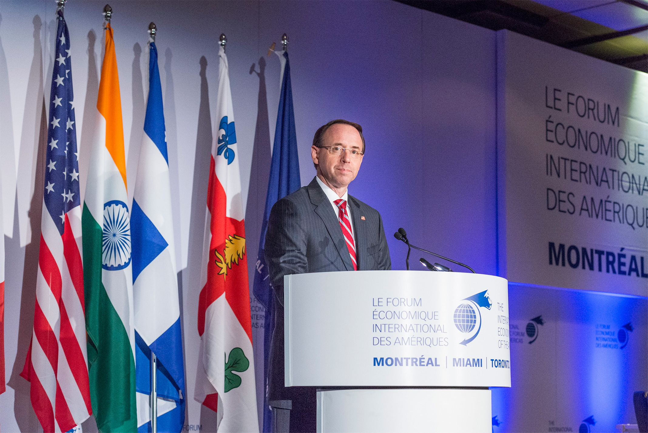 Rod J. Rosenstein, Deputy Attorney General of the United States - Conference of Montreal 2018