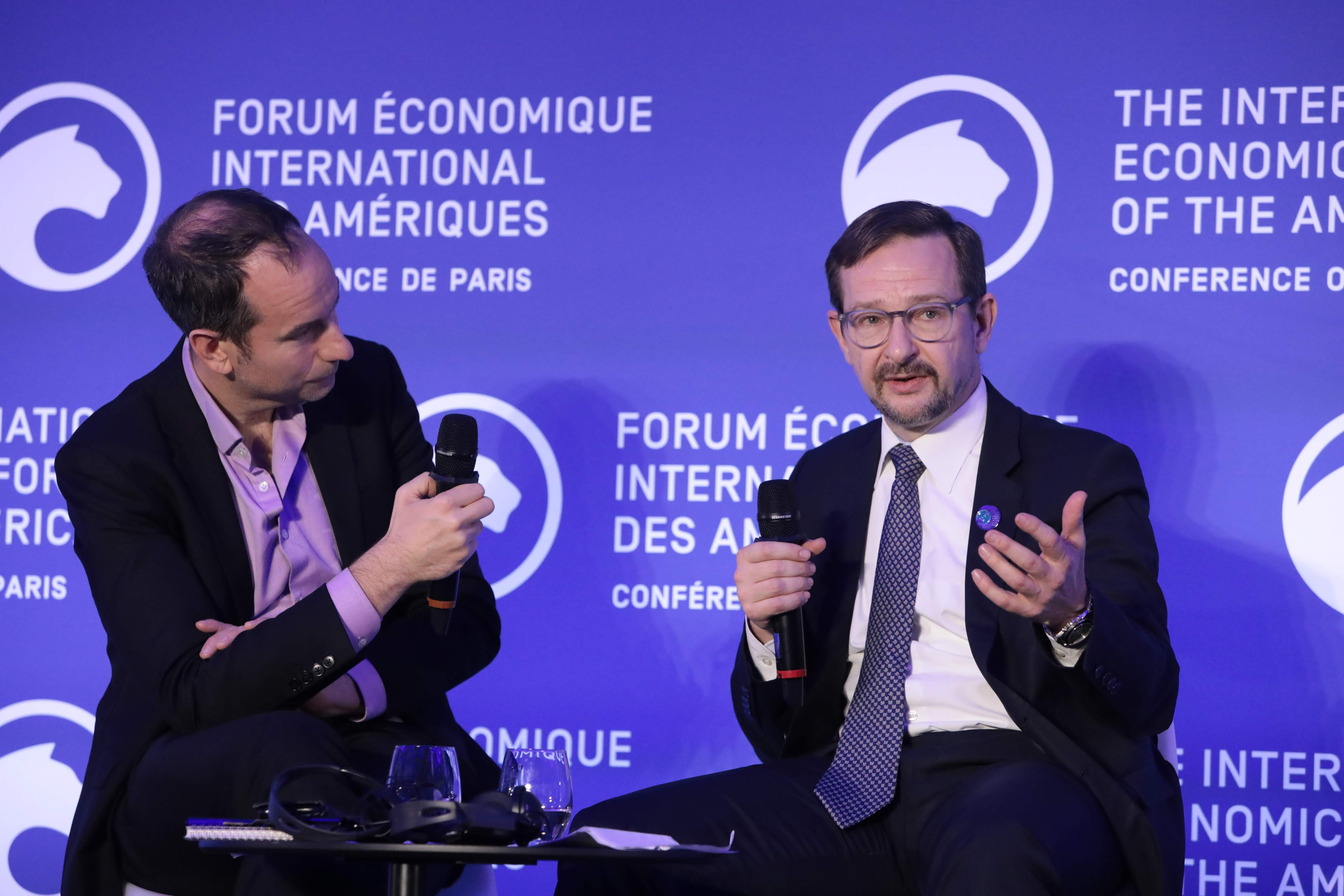Michael Peel, European diplomatic correspondent, The Financial Times and Thomas Greminger, Secretary General, Organization for Security and Co-operation in Europe (OSCE) - Conference of Paris 2019