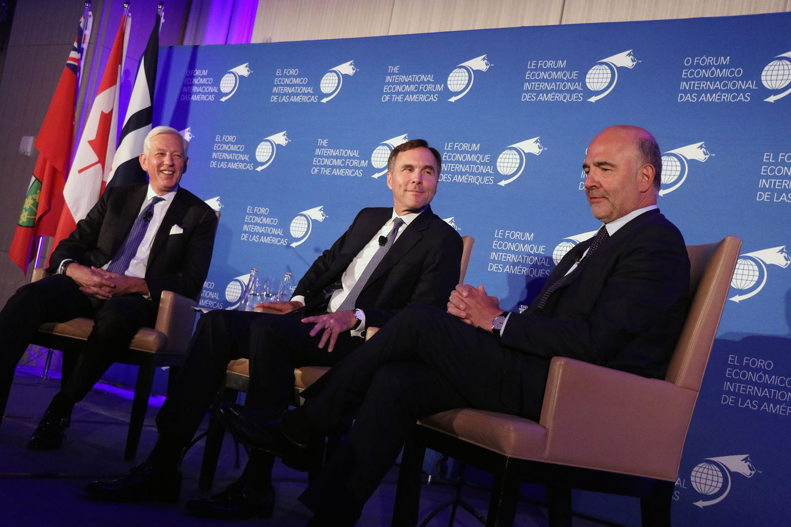 Executive Club Dinner - Dominic Barton, Global Managing Partner Emeritus, McKinsey & Company; William Francis Morneau, Minister of Finance, Canada; and Pierre Moscovici, Commissioner for Economic and Financial Affairs, Taxation and Customs, European Commission