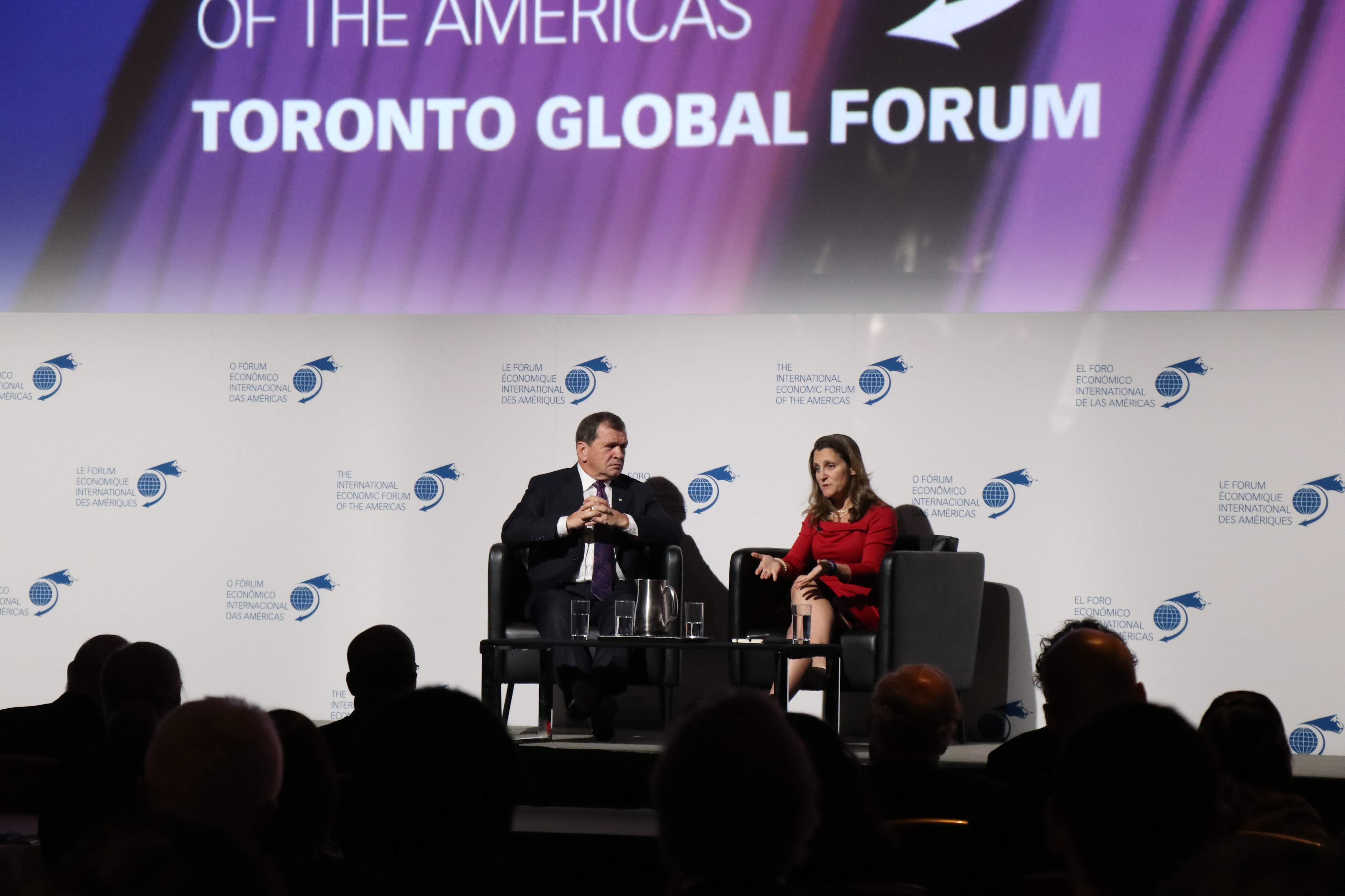Fireside Chat - Chrystia Freeland, Minister of Foreign Affairs, Canada interviewed by Frank McKenna, Deputy Chair, TD Bank Financial Group