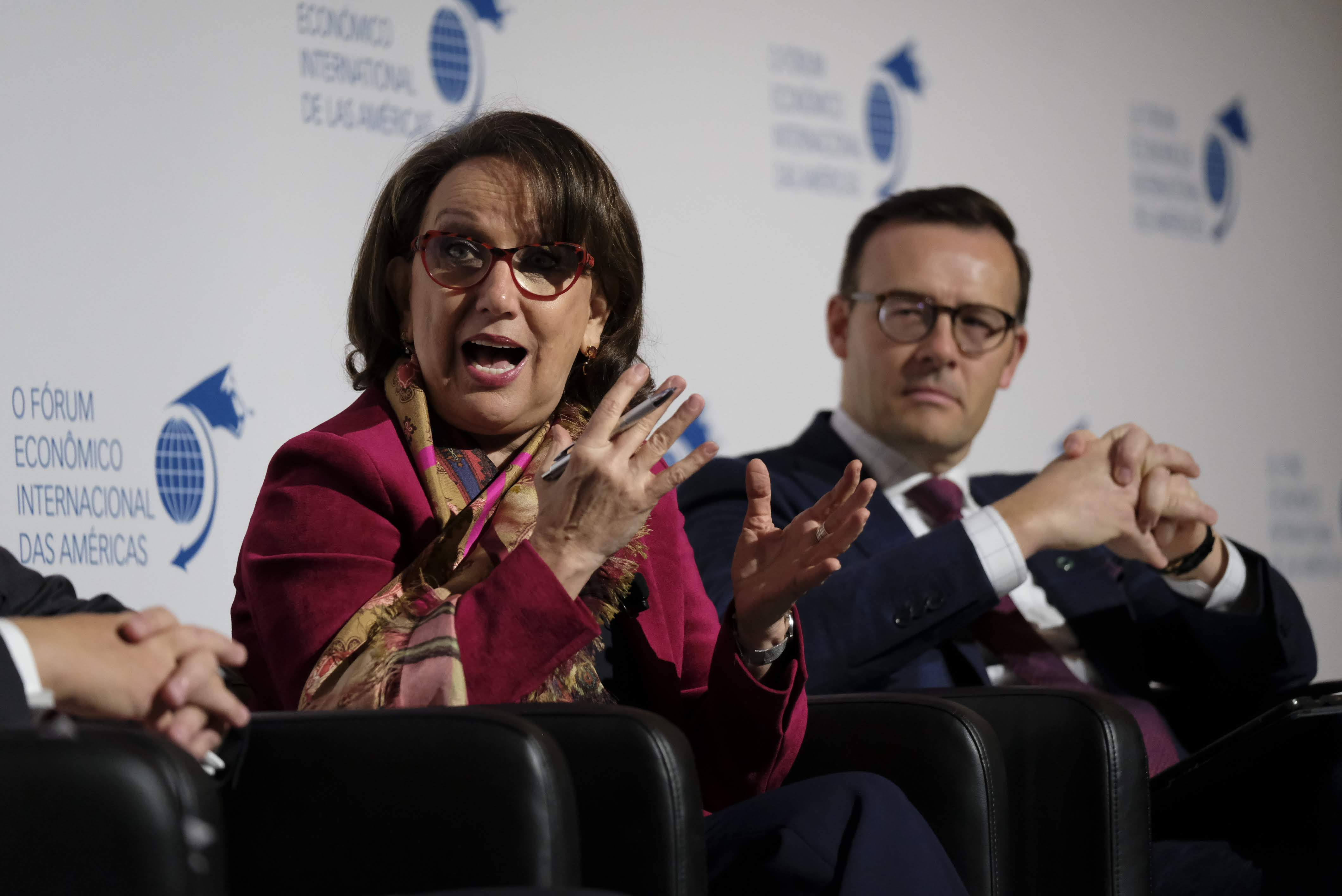 Rebeca Grynspan, Secretary General, Secretaría General Iberoamericana (SEGIB) and Guy Cormier, President and Chief Executive Officer, Desjardins Group
