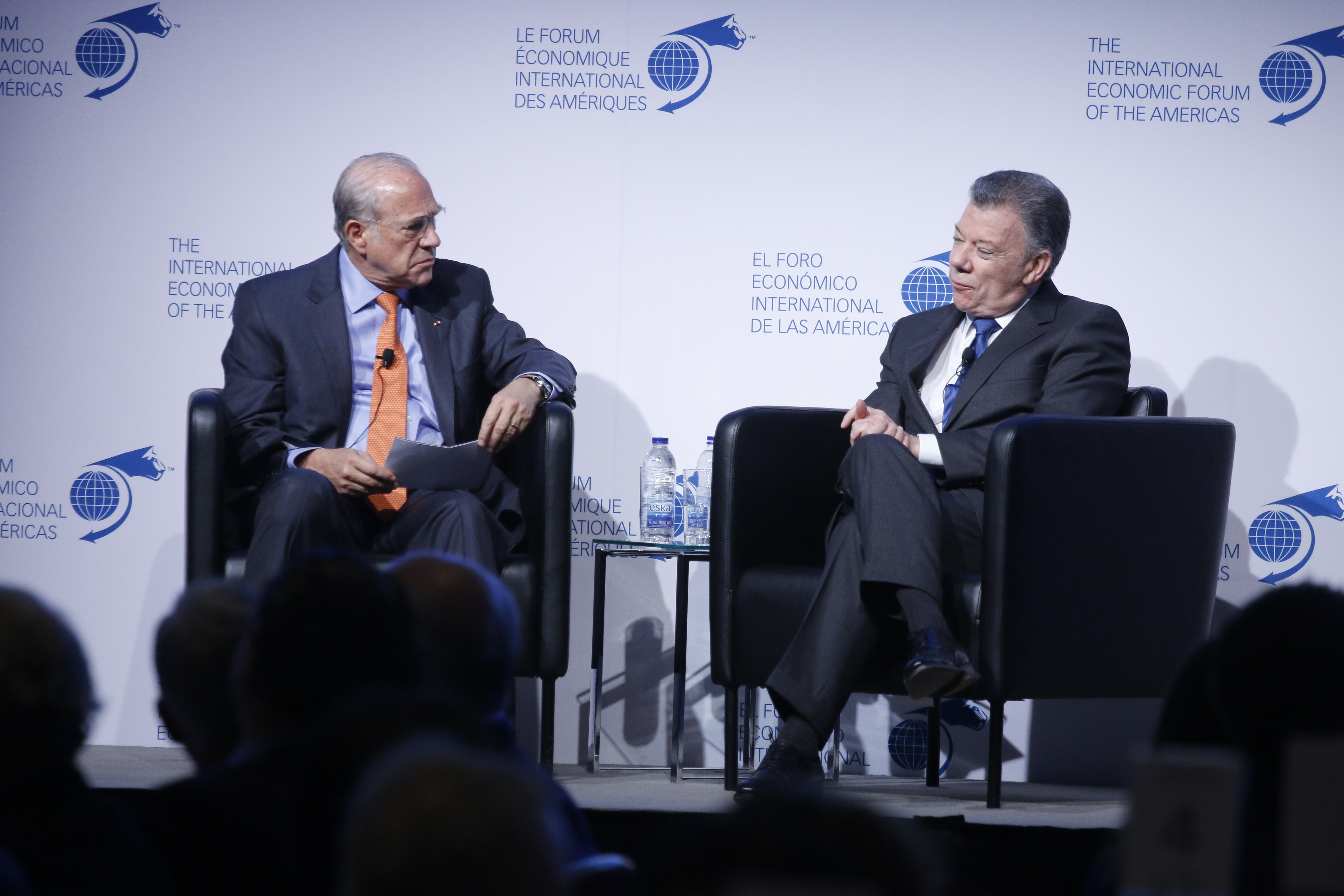 Juan Manuel Santos Calderón, President of Colombia, interviewed by Ángel Gurría, Secretary-General, Organisation for Economic Co-operation and Development (OECD)