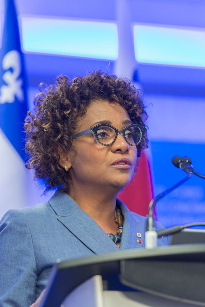 Michaëlle Jean, Secretary General, International Organisation of La Francophonie - Conference of Montreal 2017