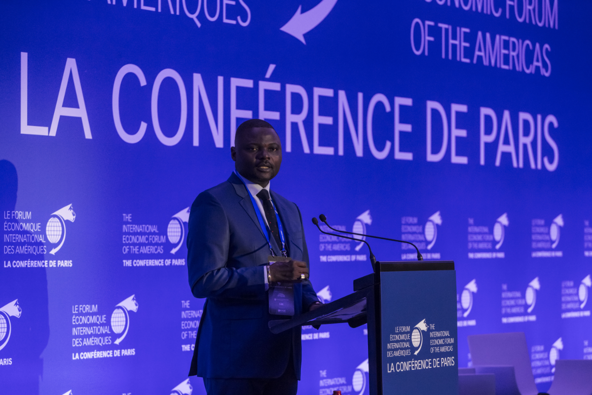 Emery Okundji Ndjovu, Minister of Posts, Telecommunications, New Technologies of Information and Communication, Democratic Republic of the Congo - Conference of Paris