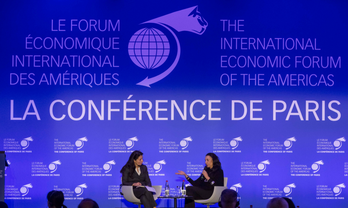 Géraldine Amiel, Paris bureau chief, Bloomberg & Orit Gadiesh, Chairman, Bain & Company - Conference of Paris