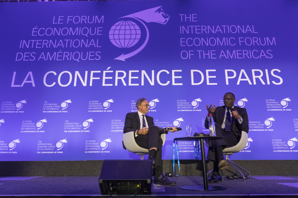Bernard Spitz, President, French Insurance Federation; and President, International and Europe, Mouvement des enterprises de France (MEDEF) & Tidjane Thiam, Chief Executive Officer, Credit Suisse - Conference of Paris