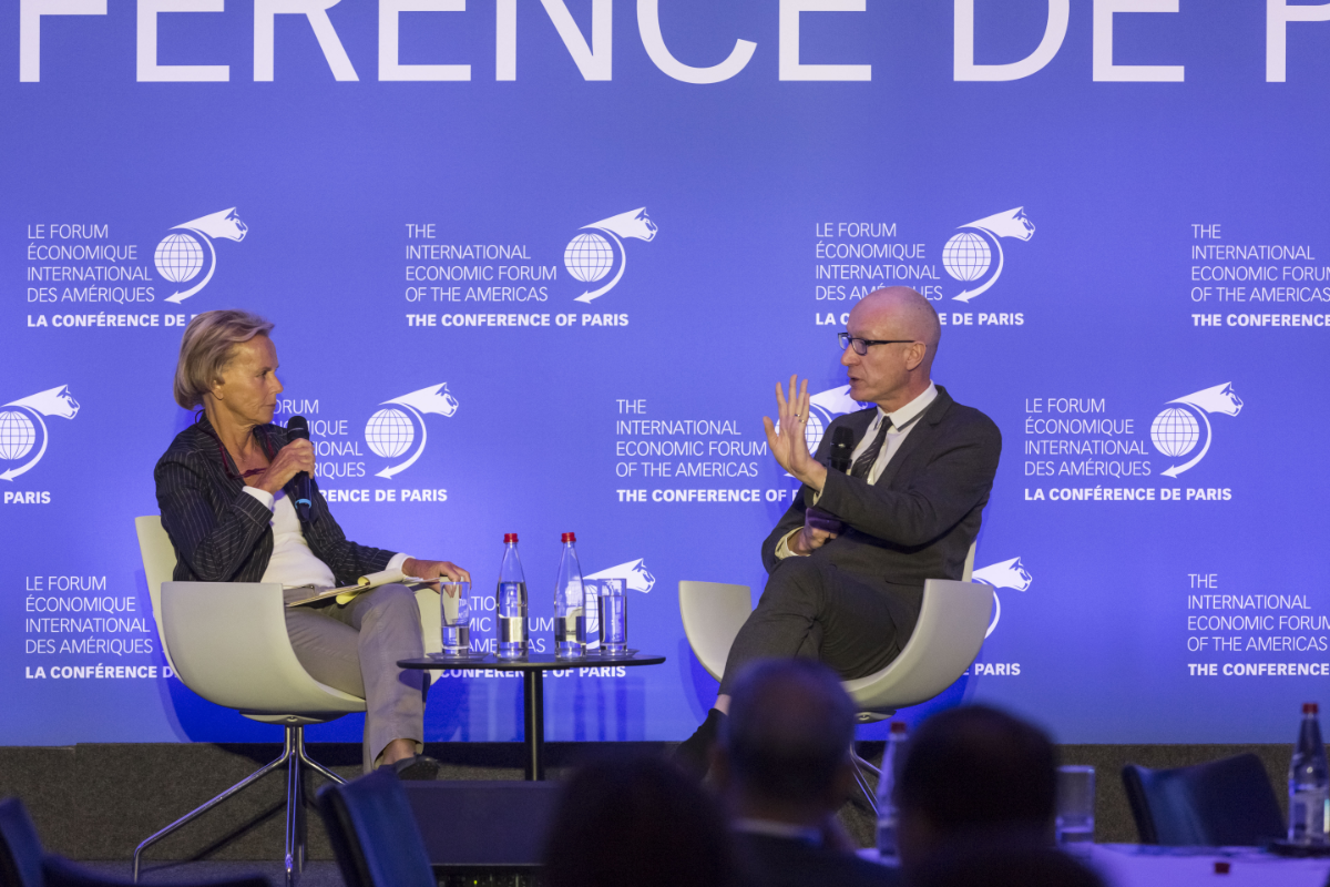 Robert Thomson, Chief Executive, News Corp and Christine Ockrent, Journalist, France Culture